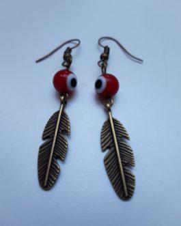 Boucles d'oreille plume 2