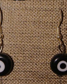 Boucles d'oreilles oeil plat noir