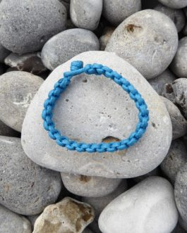 bracelet uni bleu 18cm