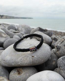 bracelet noir perle 18cm