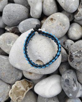 Bracelet bicolore noir et bleu 20,4