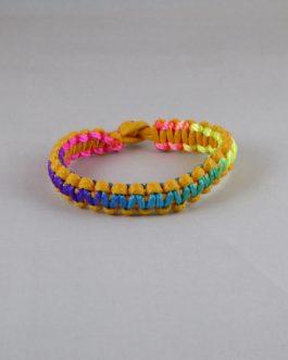 Bracelet bicolore jaune et multicouleur 17,5cm