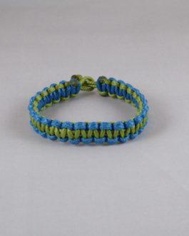 Bracelet bicolore bleu et vert 17,8cm