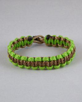 Bracelet bicolore vert et marron 15cm