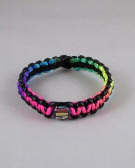 bracelet perle noir et multicouleur 19cm