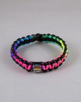 Bracelet perle noir et multicouleur 18cm