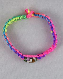 Bracelet perle multicouleur 17cm
