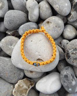 Bracelet perle uni jaune