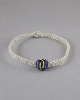 Bracelet blanc perle 16cm