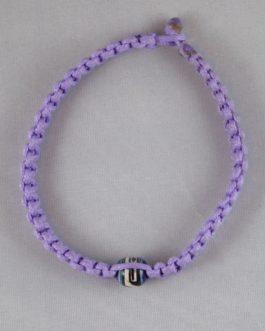 Bracelet violet perle 23cm