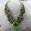 collier macramé vert aventurine