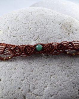 Bracelet Fin Macramé Rouge Aventurine