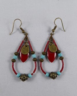 Gouttes Turquoise Howlite