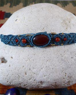 Bracelet Enora Cornaline Bleu