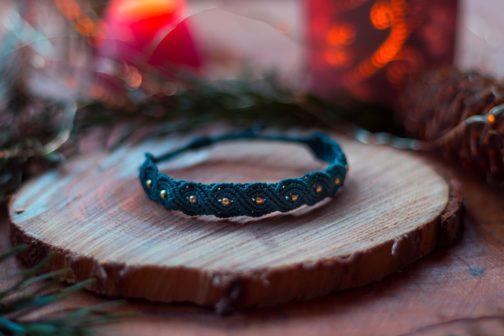 bracelet fin macramé vague éternelle