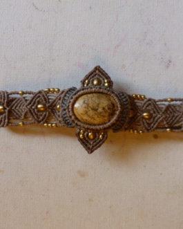 Bracelet jaspe paysage Sable