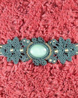 Bracelet macramé bleu aventurine