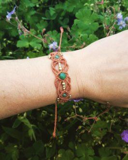 Bracelet macramé cannelle aventurine