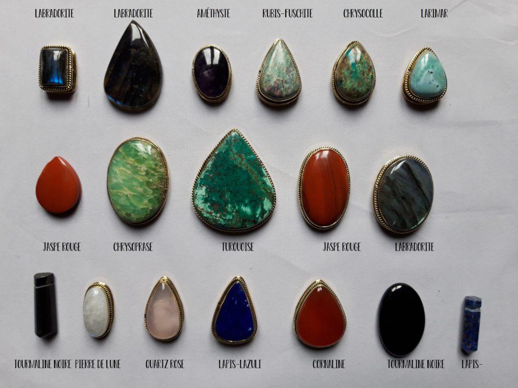 cabochons pierres fines